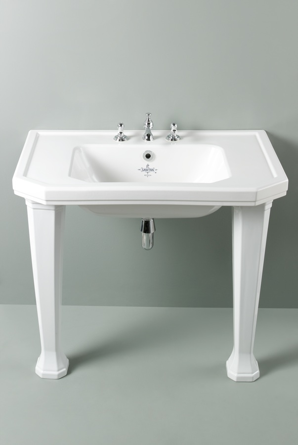 Console Art Deco Basin With Legs