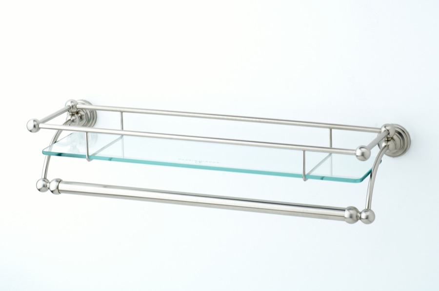glass shelf with towel rail the bath businessthe bath. Black Bedroom Furniture Sets. Home Design Ideas