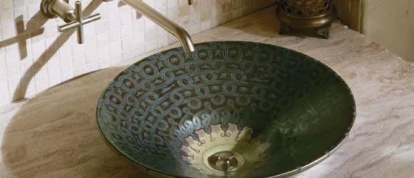 Serpentine Bronze Basin